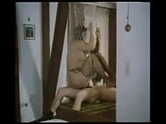 Horny vintage couple fuck through the net