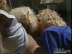 Vintage fucking with busty lesbos