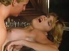 Blonde and brunette bitch duo pampers cock