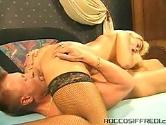 Blonde vintage sluts sucking on a cock before it pounds her pussy