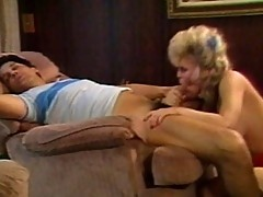 Nasty blonde bitch gives awesome blowjob