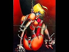 Classic female bondage artwork