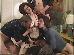 Vintage Danish Porn With Brunette Getting A Messy Facial From Four Dicks