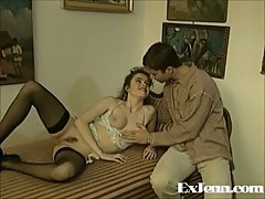 Vintage couple fuck up cumming