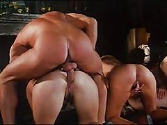 Royal orgy with busty hottie Sarah Young