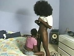 Afro dude fucks a nubile ebony