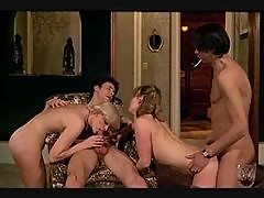 Classy duo get ravaged in scorching hot foursome