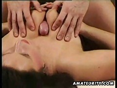 Amateur homemade ffm vintage threesome with cumshot