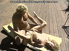 Married couple fuck outdoors by the pool
