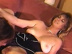 Fiery MILF blonde bitch gets dirty on couch