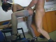 Fuck in the office in old movie