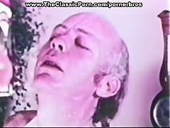 Vintage blowjob with cumshot