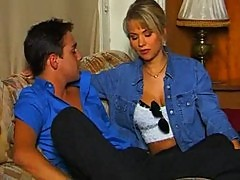 Retro blonde gangbang