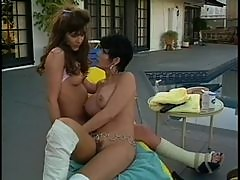 Trendy Retro Lesbians Finger And Eat Their Wet Pussies Outdoors