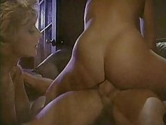 A retro porn threesome with great riding