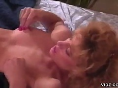 Sexy blonde floozy gets wild over tongue pussy licking session