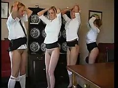 Naughty School Girls Get A Spanking