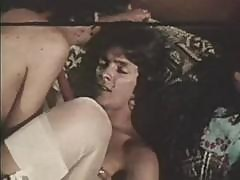 Vintage 70's Threesome With Two Classic Brunettes Sucking And Fucking