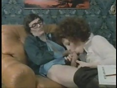 Vintage threesome with whores in stockings
