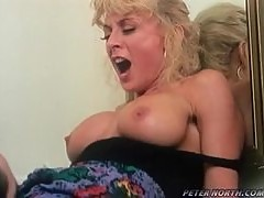 A long-haired guy gives hot Nina Hartley a hard fuck