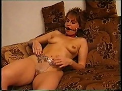 Woman experiments with BDSM alone