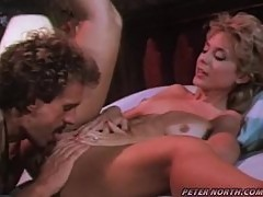 Nina Hartley lets the man eat her snatch and enjoys hot doggy style sex