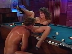 Rocco Siffredi destroys Ashlyn Gere's holes on the pool table